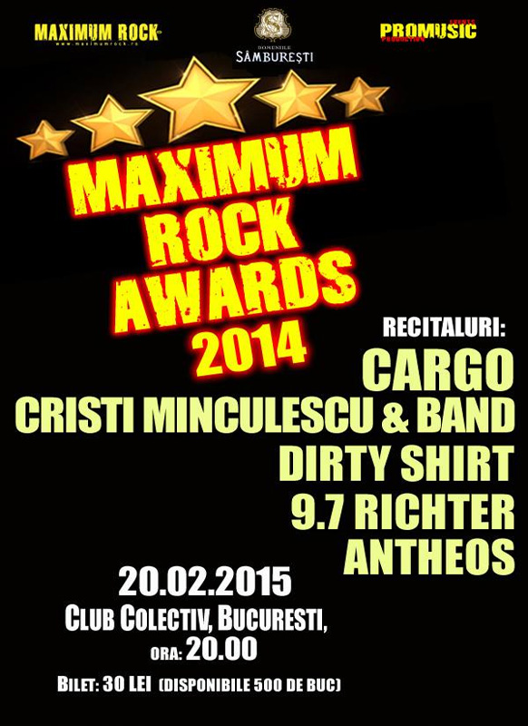 Afis Maximum Rock Awards 2016